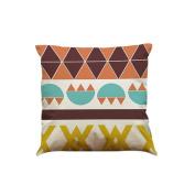 Pillow Case,TOPUNDER Fashion Colour Geometric Lines Cotton Linen Throw