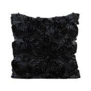 Fullkang Rose Pattern Pillow Case Sofa Waist Throw Cushion Cover Home Decor
