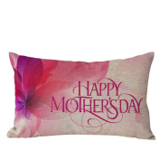 Pillow Case,TOPUNDER Mother's Day Rectangle Sofa Bed Decoration Cushion Cover I