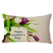 Pillow Case,TOPUNDER Mother's Day Rectangle Sofa Bed Decoration Cushion Cover H