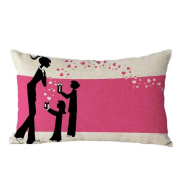 Pillow Case,TOPUNDER Mother's Day Rectangle Sofa Bed Decoration Cushion Cover G