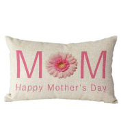 Pillow Case,TOPUNDER Mother's Day Rectangle Sofa Bed Decoration Cushion Cover F