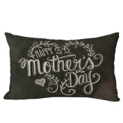 Pillow Case,TOPUNDER Mother's Day Rectangle Sofa Bed Decoration Cushion Cover D