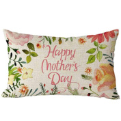 Pillow Case,TOPUNDER Mother's Day Rectangle Sofa Bed Decoration Cushion Cover C