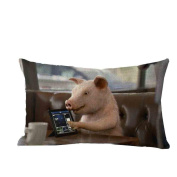 Pillow Case,TOPUNDER Cute Rectangle Sofa Bed Decoration Festival Cushion Cover F