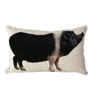 Pillow Case,TOPUNDER Cute Rectangle Sofa Bed Decoration Festival Cushion Cover C