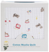 Little Unicorn Boss Baby Cotton Muslin Quilt - Toy Box, Multi
