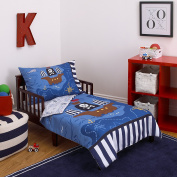 Little Tikes 4 Piece Pirates Toddler Bedding Set, Blue/Red/Black, 130cm x 70cm