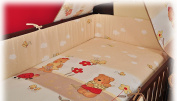 "BlueberryShop 2 pcs BABY COT BED BUNDLE BEDDING SET DUVET+PILLOW COVERS matching cot bed 120 x 150 cm (47"" x 59"") ( 0-7Yrs ) ( 150 x 120 cm ) Cream Bear"
