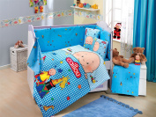 Caillou - Baby Deluxe Duvet Cover Set - 100% Cotton - 4 pieces (Blue) - Made in Turkey