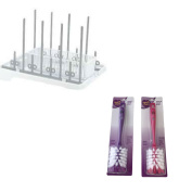 Baby Bottle Rack Bundle Includes Bottle Drying Rack (1) And Bottle Cleaning Brushes