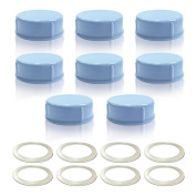 Maymom Standard Sized Milk Bottle Cap with Sealing Ring for Medela Bottles, Ameda, and Small Sized Nuk, Playtex, Gerber; 8pc