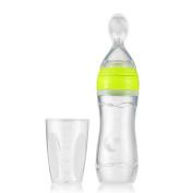 Goolsky Baby Toddler Leak-proof Food Dispensing Spoon Juice Cereal Feeding Bottle 120ml