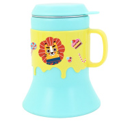 Stainless Steel Cup 8 oz, Dearya Fun Animal BPA free Trumpet Shape Drop Resistance Kids Cups with Lids & Handle for Babies, Toddlers 6M+ 250ml