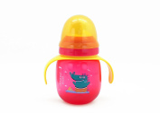 Sippy Cup 330ml, Dearya Fun Animal BPA Free Plump Baby Trainer Cup with Spout & Handles, Dishwasher Safe 6M+