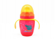 Sippy Cup 270ml, Dearya Fun Animal BPA Free Slim Baby Trainer Cup with Spout & Handles, Dishwasher Safe 6M+