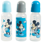 Disney Mickey Mouse 3 Pack 270ml Baby Bottles, Woods Print