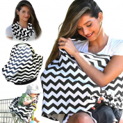 NFT Multi-Use Flexible Unisex Classic Design Striped Care Nursing Cover Infinity Nursing Scarf for Breastfeeding / Baby Car Seat Cover Canopy / Stroller Shopping Cart Cover Scarf .