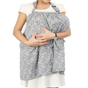 IntiPal Nursing Cover - Breastfeeding Scarf Cover - Breathable Cotton Nursing Apron for Baby Feeding