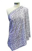 Itzy Ritzy Nursing Happens Infinity Breastfeeding Scarf, Platinum Helix, Grey