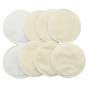 BESTOYARD 8pcs Washable Organic Bamboo Nursing Pad Leakproof Reusable Nursing Pads