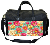 Tropical Flowers Customizable Nappy Bag