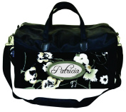 Black and White Floral Customizable Nappy Bag