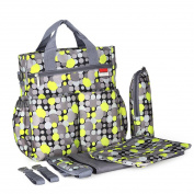 2017 New . Mommy Nappy Bag, Plus Baby Changing Pad, Stroller Straps , Cute Multicoloured Dot Pattern, Insulated Bottle Holder, Tote Nappy Bag