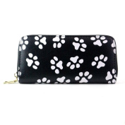 Anshinto Women Clutch Smiling Face Paw Long Purse Wallet Card Holder Handbag