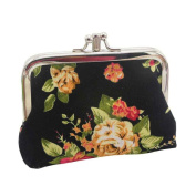 Anshinto Womens Retro Vintage Flower Small Wallet Card Holder Mini Chic Coin Purse Bag
