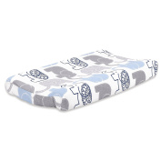 Little Peanut Grey and Blue Elephant Baby Changing Pad Cover by The Peanut Shell