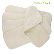 Mumsbest 4 Layers Hemp Organic Cotton Inserts Reusable Washable Nappy Liners for Babies Nappy 10pcs/pack