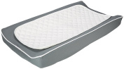 Oilo Soft White Changing Pad Cover & Topper Kit, Pewter
