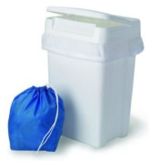 Sturdy Plastic Easy to Clean Flip Top Cloth Nappy Pail or Trash Can
