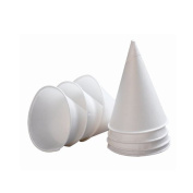 120ml Disposable Individual Roll Rim Paper Cones Cups for Water Cooler 200 - 5000