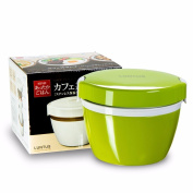 Reusable Food Container/ Food Storage Boxes, Stainless Steel Vacuum Double Bento Boxes ,(Can Be Heated In A Microwave Oven), Green