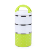 Insulation Barrels Lunch Box Stainless Steel Lunch Box Lunch,Green