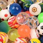 20Pcs 32mm mixed elastic ball toy ball Children's birthday party bag gift toys