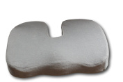 AirGo Products Coccyx Cushion - Coccyx Pillow - Take All The Pin Point Pressure Off Of Your Tailbone - Innovative Cooling Gel - Memory Foam - Ultra-plush, Removable Fabric Cover