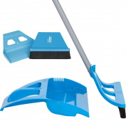 WISP Cleaning Set WISPsystem Telescoping Broom and Dustpan with miniWISP Hand Broom w/Bristle Seal Technology