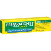 Preparation H Hemorrhoid Symptom Treatment Cream, Maximum Strength Pain Relief with Aloe, Tube (25ml)