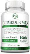 Forskolin MD - 60 Capsules (1 Month Supply) - 20% Standardised Forskolin - 500mg/day - Effective and Fast Weight Loss Supplement. 60 Days .