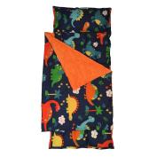 H & T Toddler Nap Mat with Minky Dot Blanket - Dinosaur
