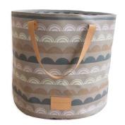 Hiltow Fabric Foldable Round Laundry Basket Hamper Closet Storage Bin Bag