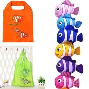 Bazaar Random Sent Little Fish Reusable Folding Shopping Bag Travel Grocery Tote