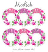 Modish Labels Baby Nursery Closet Dividers, Closet Organisers, Nursery Decor, Baby Girl, Flowers, Floral Decor, Roses
