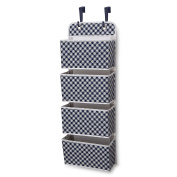 Delta Children Deluxe 4 Pocket Water-Resistant Organiser, Gingham/Navy