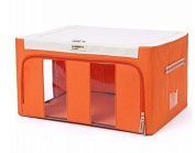 in like Pure Colour Non-Woven Foldable Storage Box Clothes Storage Box With Lid Toy Sundries Organiser Orange