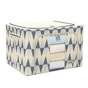 in like Classic ribbon folding clothes storage box cover non-woven toy storage box Big rhombus beige