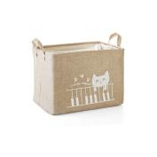 Fieans Fabric Storage Bin Organiser Basket with Handles for Clothes Storage,Toy Organiser-Khaki